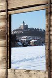 Stronghold Kuneticka hora in winter Stock Photography
