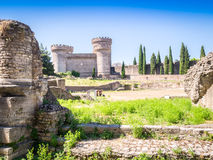 Stronghold Rocca Pia and Amphitheater di Bleso, Tivoli, Italy. Stronghold Rocca Pia and Amphitheater di Bleso, Tivoli, Lazio, Italy Royalty Free Stock Photos