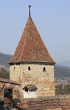 Stronghold tower. A small tower from Sighisoara fortress,Transylvania,Romania Royalty Free Stock Photo