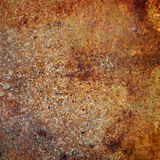 Strongly rusty metal plate Royalty Free Stock Photos