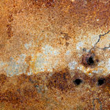 Strongly rusty metal plate Royalty Free Stock Images