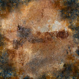 Strongly rusty metal plate Stock Images