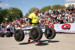 Strongman Champions League stage Serbia Royalty Free Stock Images