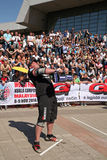 Strongman Champions League stage Serbia Royalty Free Stock Photos