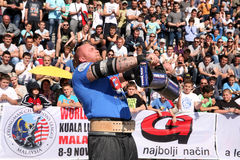 Strongman Champions League stage Serbia Royalty Free Stock Image