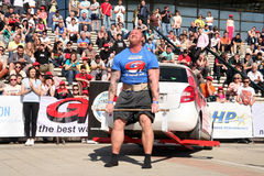 Strongman Champions League stage Serbia Stock Photos