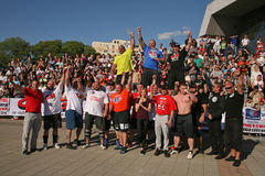 Strongman Champions League stage Serbia Royalty Free Stock Photography