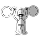 Strongman circus cartoon Stock Photos
