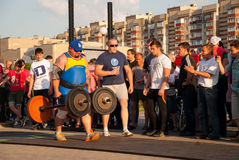 Strongman competition stock photography