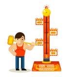 Strongman en test uw sterktespel vector illustratie
