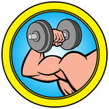 Strongman Icon Stock Photography