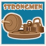 Strongman jeans Royalty Free Stock Photos