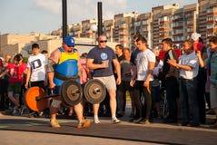 Strongmankonkurrens arkivbild