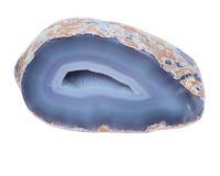 Stronniczo okrzesana błękit koronki agata geoda Obrazy Stock