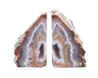 Stronniczo okrzesana multicolor agat geoda z crystaline druzy centrum elektrycznym grzejnym ochraniaczem Obraz Stock