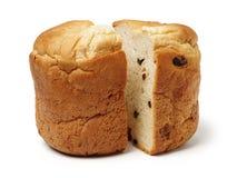 Stronniczo pokrojony bochenek pszeniczny sourdough hearth chleb z otręby obrazy stock