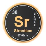 Strontium Sr chemical element. 3D rendering. Isolated on white background vector illustration