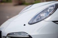 strony biały samochód Obraz Stock