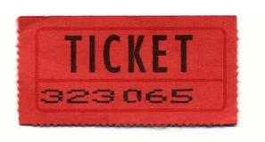 strony bilet zdjęcie stock