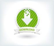 Strony internetowej ściągania guzik i ikona Fotografia Stock