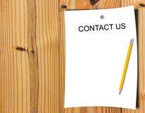 Strony internetowej i interneta kontakt My pojęcie fotografia stock