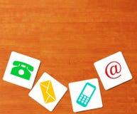 Strony internetowej i interneta kontakt z kopii przestrzenią My pojęcie zdjęcie stock
