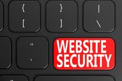 Strony internetowej ochrona na czarnej klawiaturze Obraz Royalty Free