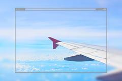 Strony internetowej strony projekta pojęcia samolotu skrzydła tło Obraz Stock