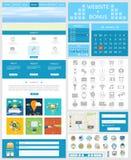 Strony internetowej strony szablon Sieć projekt Obraz Stock