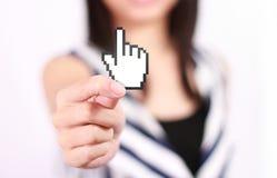 Strony internetowej stuknięcia ikona Zdjęcia Royalty Free