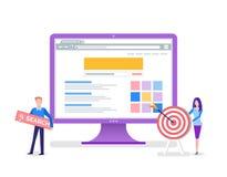 Strony Internetowej szablon, wyszukiwarka i serwis wyszukiwawczy, ilustracji