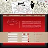 Strony internetowej szablonu projekt z gazetowym chodnikowem Obraz Royalty Free