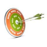 Strony internetowej Ustawiać lub widoczność - SEO kampania Obraz Stock