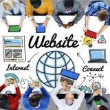 Strony internetowej WWW Online technologii Globalny pojęcie Zdjęcie Stock