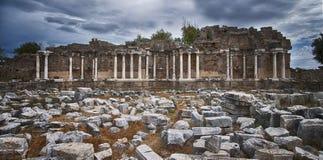 Strony Nymphaeum fontanna Rujnuje 06 Obraz Stock