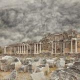 Strony Nymphaeum fontanny ruiny Obraz Stock