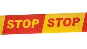 Strook met het geschreven teken van het EINDE Stock Afbeeldingen