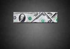 Strook van dollars op de gradiënt donkere achtergrond Stock Foto