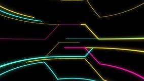 Strook van Lichten en Kleuren op een Retro Science fictionachtergrond royalty-vrije illustratie