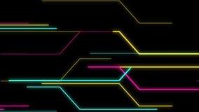 Strook van Lichten en Kleuren op een Retro Science fictionachtergrond stock illustratie