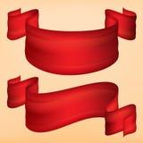 Strooklint van rode stof Royalty-vrije Stock Foto