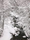 Stroom in de sneeuw royalty-vrije stock afbeelding