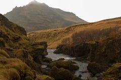 Stroom in een canion in IJsland Royalty-vrije Stock Foto