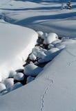 Stroom in Sneeuw Royalty-vrije Stock Afbeeldingen