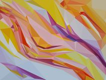 Stroom van abstracte driehoeken stock afbeelding