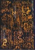 Stroom van digitale aantallen Stock Foto