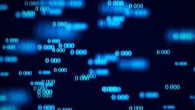 Stroom van nul Digitale matrijs als achtergrond het 3d teruggeven Binaire codeachtergrond programmering Webontwikkelaar royalty-vrije illustratie