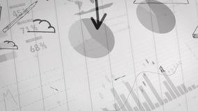 Stroomgrafiek van een businessplan stock illustratie