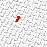 Stroomopwaartse manier vector illustratie
