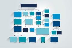 stroomschema Blauwe Gekleurde schaduwenregeling Royalty-vrije Stock Foto's